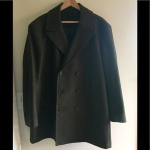 Banana republic wool cashmere Pea coat, size XL